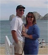 Jim Poole, jr. and wife, Kimberlee in Cabo!